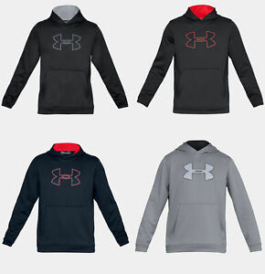Under Armour Ua Rival Hoodie Mens 1266769-035 Steel Grey Pullover Hoody Size S