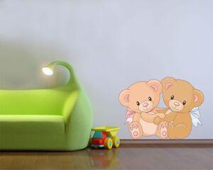 Decorazioni Pareti Orsetti : Adesivo murale dolcissimi orsetti wall stickers adesivi da