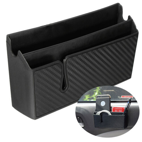 PVC Carbon Fiber Style Car Air Vent Arm Rest Storage Box Organizer Holder for Ph