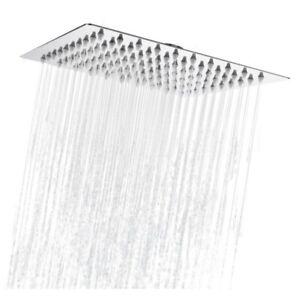 Eckig Kopfbrause Regendusche Regenbrause Duschkopf Edelstahl poliert 30x30CM