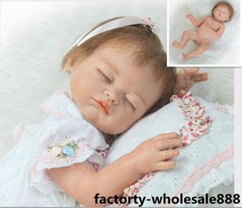 "20/"" Bebe Reborn Baby Girl Doll Full Body Siliconely Vinyl Lifelike Newborn *"