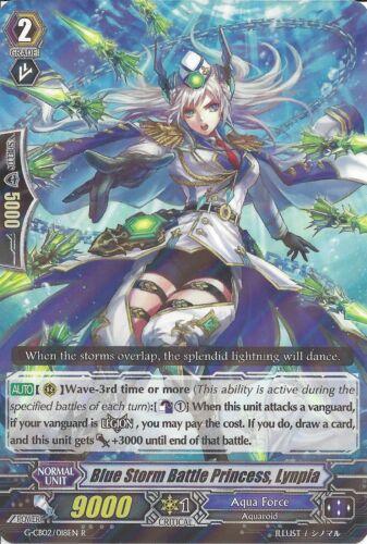 CARDFIGHT VANGUARD CARD LYNPIA G-CB02//018EN R RARE BLUE STORM BATTLE PRINCESS