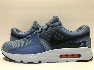 Details about Nike Air Max Zero Essential Work Blue LE BlueSkyNavyOrange 876070 400 Sz 9.5