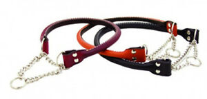 Auburn-Leathercrafters-QUALITY-Rolled-Leather-Martingale-Dog-Collars-9-SIZES