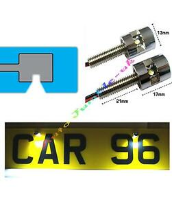 Mercedes-CLC-CLS-CLK-CL-COCHE-Tornillo-Luces-Lampara-LED-matricula-Seguridad