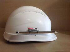 Magtab, magnetic pen / pencil holder, helmet / hard hat accessory.
