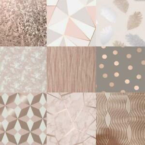 Fabulous-Range-Of-Rose-Gold-Assorted-10m-Wallpaper-Geometic-Apex-Floral