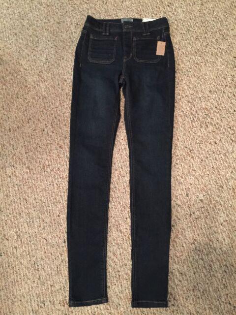 9a2f210ab495b NWT Juniors  Mudd® High-Waisted Patch-Pocket Denim Skinny Jeans Size 1