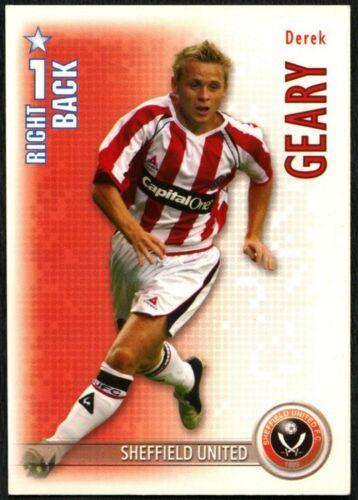 C1308 Derek Geary SHEFFIELD UTD Shoot Out 2006-7 Boîte Magique Football Trade Card