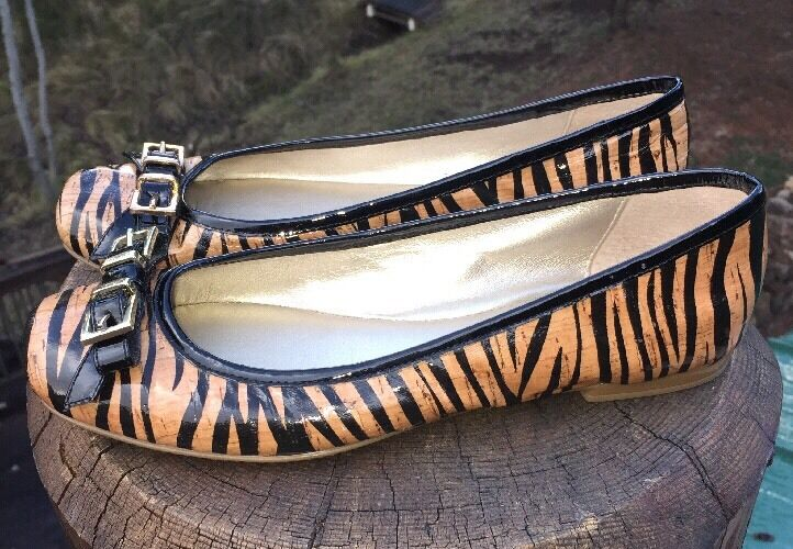 Söfft Sample  Nalda  Women's Zebra Cork Ballet Flats Size 6M US