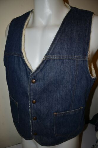 Denim Jean Fleece Lined Sherpa Jacket Farm Hunting