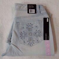 Nine West Jeans karen Bling Capri Koro Wash (light Blue) Women's Sz 6