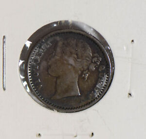 British-India-1840-1-4-Rupee-silver-I0417-combine-shipping