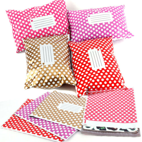 Polka Dots Post Plastic Mailing Bags Strong Self Seal all Size HIGH QUALITY