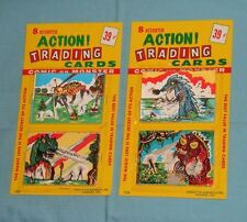 vintage MONSTER MAGIC ACTION TRADING CARDS MOC LOT x2 (set A) sea monsters