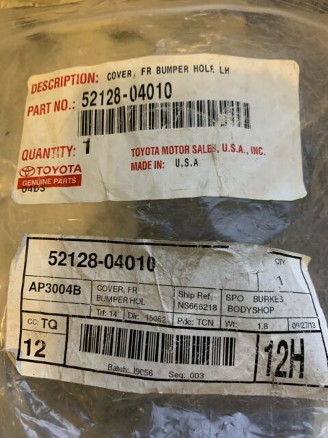 OEM TOYOTA TACOMA BUMPER HOLE COVER 52128-04010 FITS 2005-2012 DRIVER SIDE