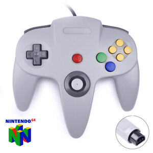 N64-Controller-Game-Joystick-Gamepad-Game-System-Grey-Long-Handle-For-Nintendo
