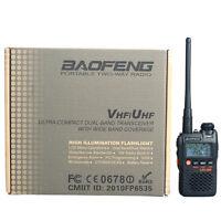 New BaoFeng UV-3R 136-174/400-470 MHz Dual-Band Ham Radio Transceiver Black
