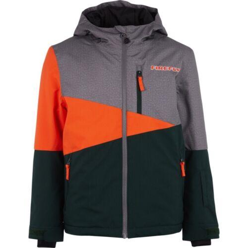 Firefly Etienne Snowboard Ski Jacket Children Melange//Dark Green//Orange RRP 69,99