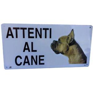 Cartello attenti al cane TARGA BOXER CANE in alluminio 20x30 cm