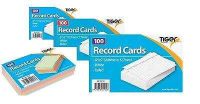 Tiger Revision Flash Index Prompt Report Record Cards Students College  Office | eBay