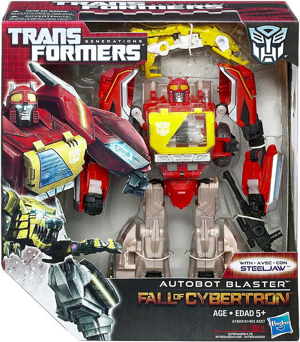 Transformers Generations Fall of Cybertron FOC Voyager Autobot Blaster NEW