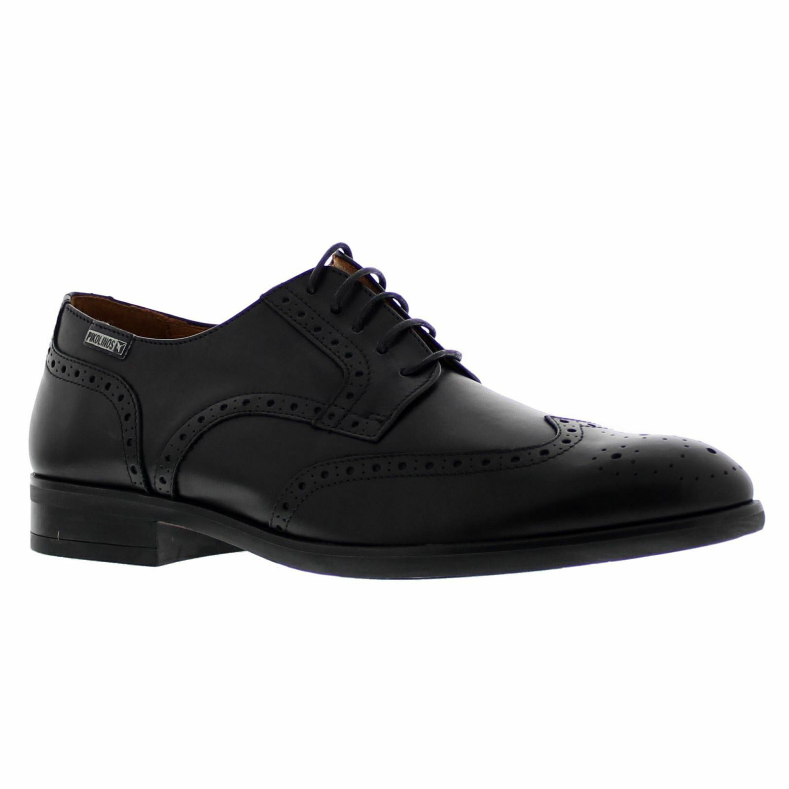 Pikolinos Bristol M7J-4186 Black Mens Leather Brogue Laced Formal shoes