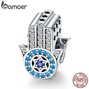BAMOER-925-Sterling-Silver-Charm-guard-eye-With-CZ-For-Women-Bracelet-Jewlery