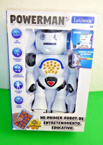 rob50es - versione spagnola LEXIBOOK Powerman robot Bianco