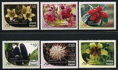 Motive Romantisch Nepal 2015 Blumen Blüten Pflanzen Flowers Blossoms Plants 1202-1207 Mnh Schrumpffrei