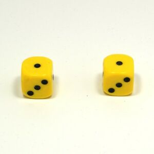 1-Pair-of-Yellow-Dice-Dust-Caps-Snake-Eyes-for-BMX-80-039-s-Retro-Valve-Caps