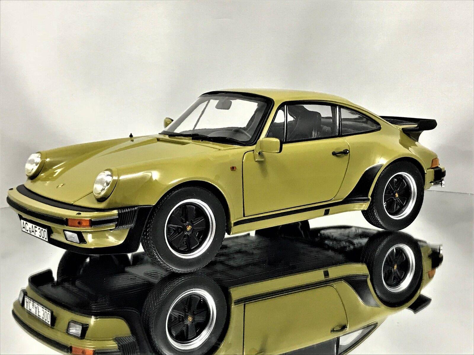 Norev porsche 911 turbo 3.3 coupé (930) 1977 olivgrün ein diecast modell auto 1,18
