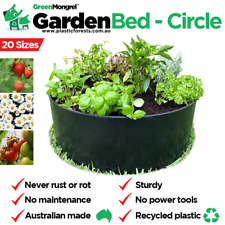 Raised Garden Bed Black 60cm Diameter X 20cm H Recycled Plastic Circle Aus Kit Ebay
