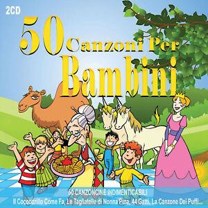 2CD-50-Canzoni-Per-Bambini-I-Due-Liocorni-I-Puffi-il-Caffe-della-Peppina