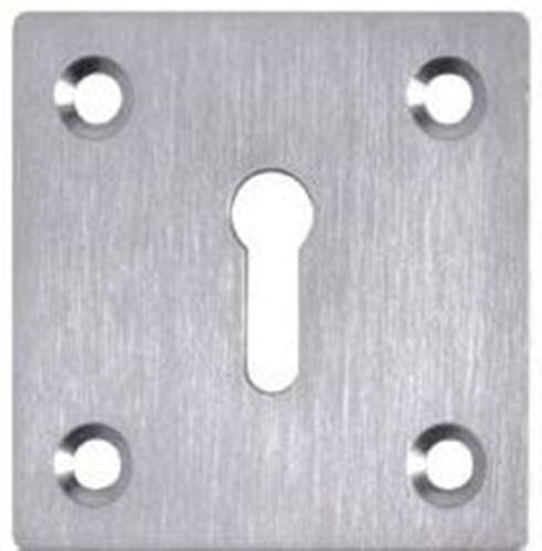 Square keyhole cover escutcheon door lock plate standard profile square keyhole cover escutcheon door lock plate standard profile 50mm x 50mm satin chrome sciox Image collections