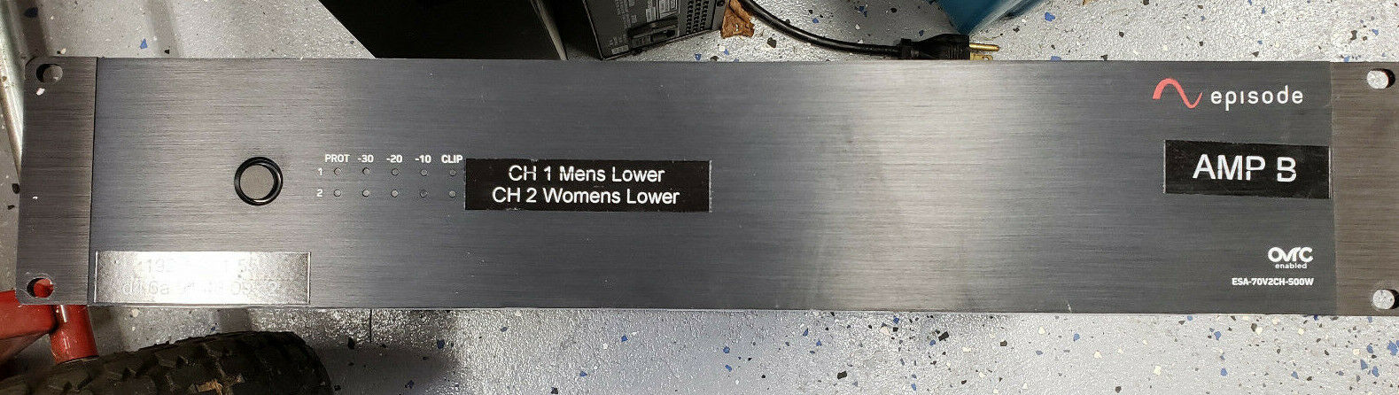 Episode ESA-70V2CH-500W OVRC IP-Enabled Channel Digital Amplifier Mixer 500 Watt
