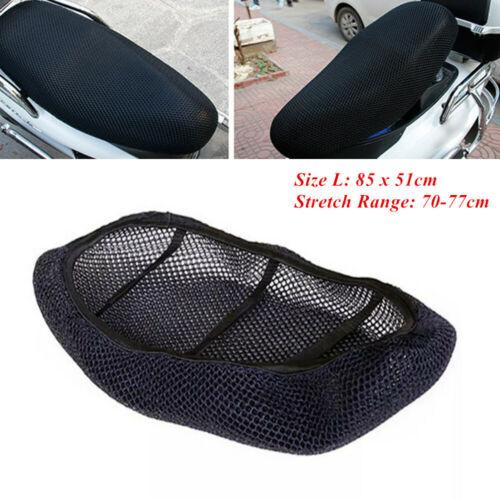 Motorcycle Black 3D Seat Cover Net Waterproof Heat Insulation Sleeve Anti-slip
