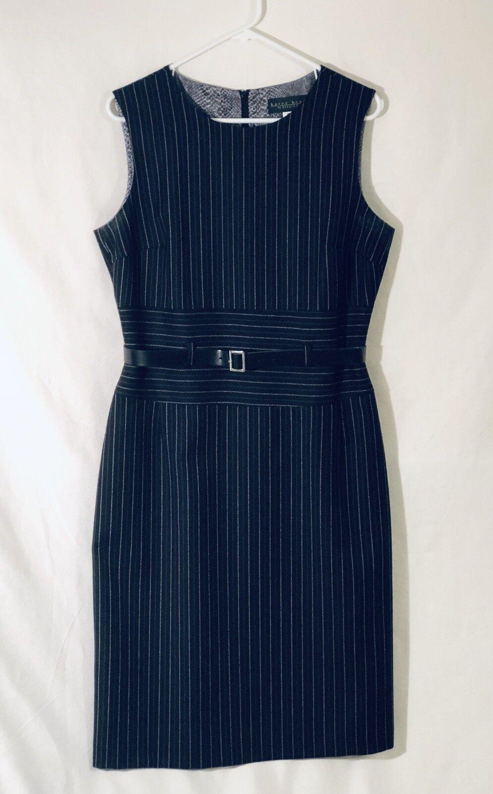 Harve Benard by Benard Holtzman damen Wool Dress Pin Stripe with Belt Größe 12