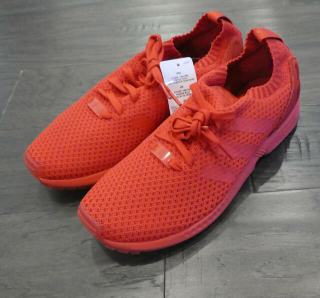 pretty nice 1b059 d8dc4 Adidas ZX Flux PK Primeknit shoes mens new sneakers red october S76497  running