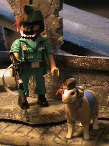 Playmobil Personnalisé Légionnaire Armée Espagnole Chèvre Ref-0243 Bis