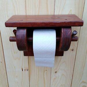 Details Zu Klorollenhalter Toilettenpapierhalter Holz Wc Rolle Rustikal Handarbeit Vintage