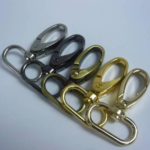 Pivotant 10x Trigger Clips Snap Crochets Homard Fermoirs pour 25 mm bracelet À faire soi-même Sacs Craft