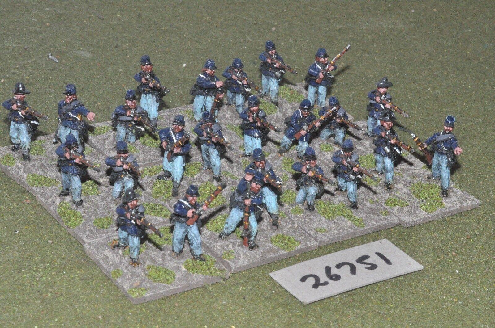 25mm ACW   union - regt. 24 figures - inf (26751)