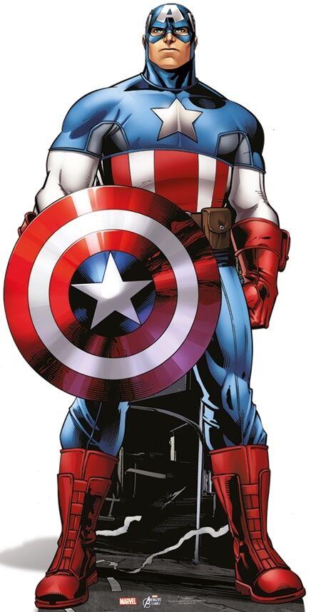 echa un vistazo a los más baratos SC-742 Captain America - Marvel Hauteur ca.177cm Présentoir en en en Cocheton Figurine  entrega de rayos