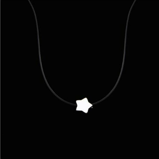 "Invisible Transparent Fishing Line Zircon Pendant Necklace Choker WomenJewelry///"""