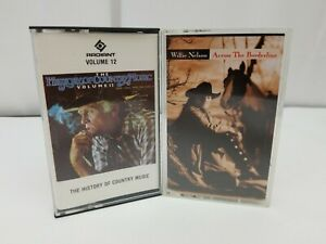 Country-Music-Cassette-Tape-Lot-of-2-Willie-Nelson-amp-History-of-Country-Vol-12