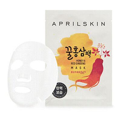 [APRILSKIN] Honey & Red Ginseng Mask 1/2/10pcs Lot / BEST Korea Cosmetic