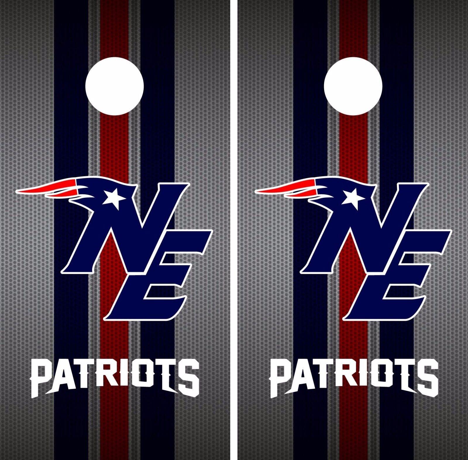 New England Patriots Cornhole Skin Wrap NFL Football Luxury colors Vinyl DR57