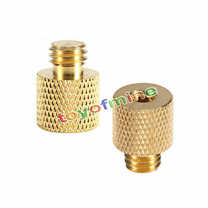 1pc 3/8'' Female to 1/4'' Male Brass Tripod Thread Reducer Adapter For Camera