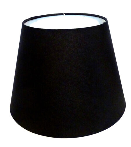 E14 Lampenschirm Stoff Schwarz